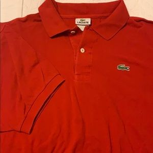 Red Lacoste Polo size 7